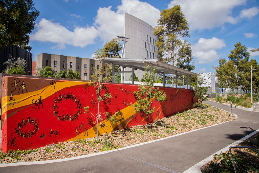 The University Of Life Mural Tom Civil Artist  2014 Burwood Mutant Way